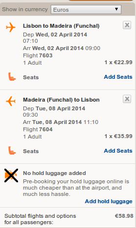 Лиссабон-Мадейра EasyJet